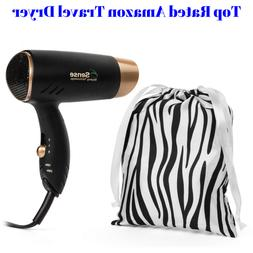 Travel Hair Dryer Dual Voltage Compact Folding Handle 1200 W