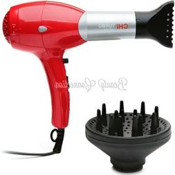 CHI Turbo Ceramic Professional Hair Dryer with Diffuser Low