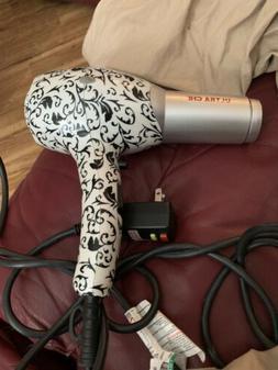 ULTRA CHI LOW EMF BLACK & White Hair Dryer Blower