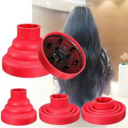 Universal Folding Silicone Hair Dryer Blower Hood Diffuser H