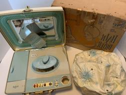 Sears Vintage Luggage Style Portable Deluxe Hair Dryer Bonne