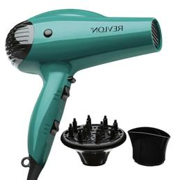 Volume Booster Hair Dryer, Teal with Concentrator and Diffus