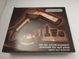 VTG Vidal Sassoon Pro Mid 1200 Watt Styling Dryer With Attac
