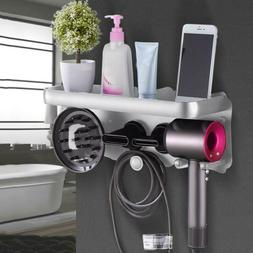 Wall Mount Rack Bracket Hair Dryer Holder Stand for Dyson Ac