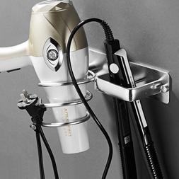 wall mounted hair dryer rack space bathroom